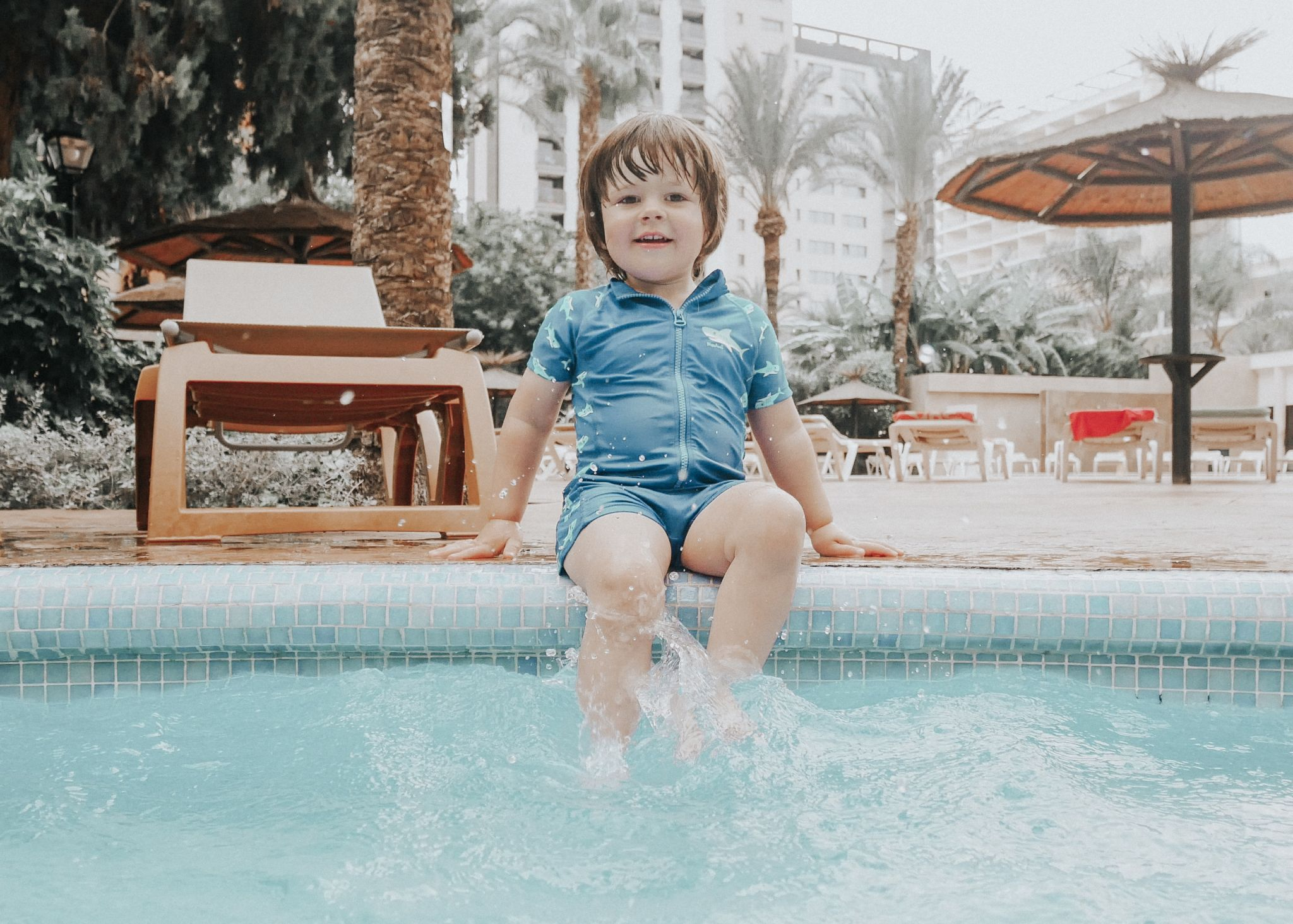 A toddler abroad